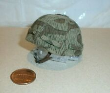Dragon German helmet with cloth camo cover ( metal ) 1/6th scale toy accessory