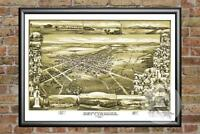Old Map of Gettysburg, PA from 1888 - Vintage Pennsylvania Art, Historic Decor
