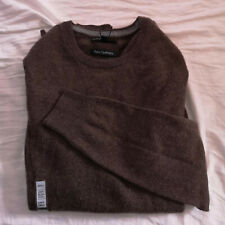 M&S Mens Neutral Brown Pure Cashmere Crew Neck Jumper Size Small BNWT
