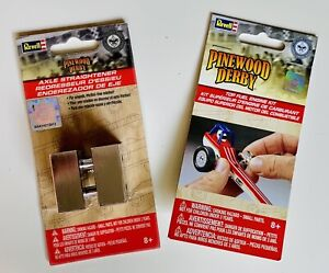 Boy Scouts RETIRED Revell Pinewood Derby Top Fuel Engine Kit +Axle Straightening
