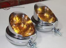 """Amber 5"""" 12 Volt Mounted Visor Fog Light Lamps Custom Truck Hot Rat Street Rod"""