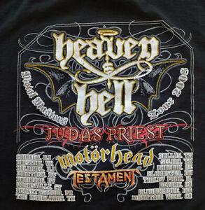 Metal Masters Tour 2008 Heaven&Hell Judas Priest Motorhead Testament T-Shirt, Lg