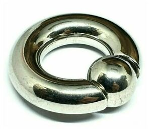 Easy Fit Heavy Gauge BCR 10mm 00g CBR 12mm Ball Closure Ring PA Prince Albert
