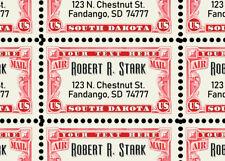 Custom Return Address Stamps - Sheet of 55 - Gummed & Perforated Sheet [REPRO]