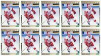 (10) 1991-92 Score Young Superstars Hockey #40 Kevin Miller Card Lot Red Wings