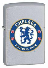 Zippo 205 Satin Chrome Chelsea Football - Lighter - Petrol Windproof - Gift Box