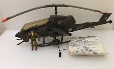 VINTAGE GI JOE 1983 DRAGONFLY XH-1 ASSAULT COPTER w/WILD BILL 100% EXCELLENT