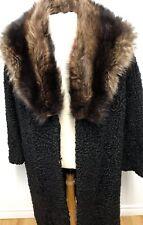 GENUINE Persian LAMB RACCOON FUR COAT Jacket FOR MEN  Sz.M n. 206