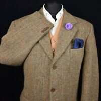 Harris Tweed BARUTTI Country Tailored Hacking Jacket 46R #494 SUPERB ITEM