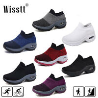 Womens Cushioned Walking Running Sports Comfy Sock Sneakers Mesh Jogging Shoes