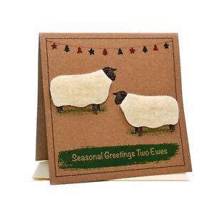 Sheep (Seasonal Greetings Two Ewes) Christmas Card