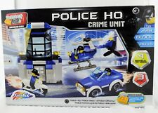 BLOCK TECH POLICE HQ CRIME UNIT 228 PC JEEP MOTORCYCLE HELICOPTER OFFICERS NEW