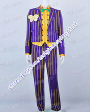 Batman Arkham Asylum Joker Stripe Suit New Outerwear Halloween Cosplay Costume
