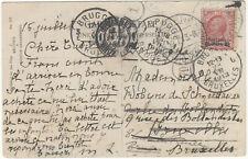 Smirne, Uffici Postali all'Estero, da Smirne, 19.7.13,per Bruxelles, con 10 Cent