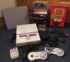 Super Nintendo SNES Console & Games Mario World Bubsy Game Genie Tetris Lemmings