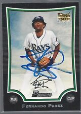 Tampa Bay Devil Rays FERNANDO PEREZ Signed Card