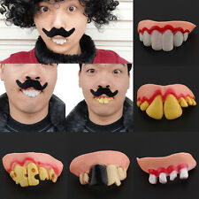 Funny Dead Zed Zombie Set Adult Fake Teeth Trick Prank Costume Party Game Humor
