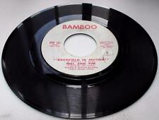 Mel And Tim Backfield In Motion b/w Do Right Baby 1969 Bamboo 107 Soul 45rpm VG