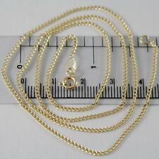 CHAIN YELLOW GOLD 750 18K, 50 CM, MINI GRUMETTA, GROUMETTE, DIAMETER 1 MM