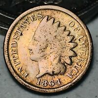 1864 Indian Head Cent Penny 1C CN Ungraded Civil War Date US Type Coin CC6006