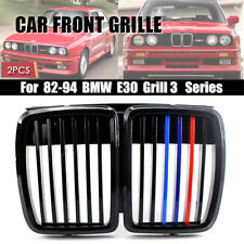 For 82-94 BMW E30 Grill 3 Serie Front Hood Kidney Grille M3 Stylish