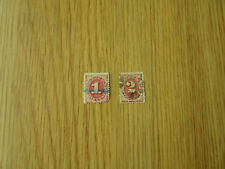 US STAMPS POSTAGE DUE    1 & 2  CENT STAMPS   FROM 1879  USED
