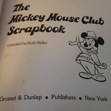 The Mickey Mouse Club Scrapbook Compiled by Keith Keller 5th Printing 1977