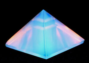 Reiki Energy Opalite Crystal Healing Gemstone Opalescent Pyramid Gift Wrapped