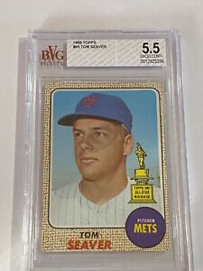 1968 Tom Seaver #45 BVG 5.5 Ex+ (New York Mets) 2nd Year Card!