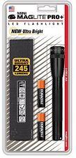 Mini Maglite Pro+ Led Flashlight - 2-Cell AA - 245 Lum , Black/ SP+P01HL