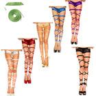 Women Lady Metallic Leather High Leg Wraps Strap Stretchy Dance Rave Club Wear