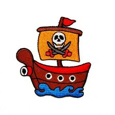 ONE PIECE Monkey D.Luffy Pirates Ship Skull Flag Anime Comic Shirt Iron on Patch
