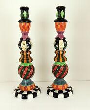 """2  Peggy Fairfax Herrick '98 House Of Hatten Candlesticks 14"""" Tall Halloween"""