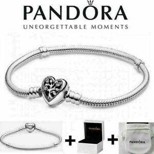 Armband Family Herz 925 Silber Schlangenarmband Herzverschluss Pandora