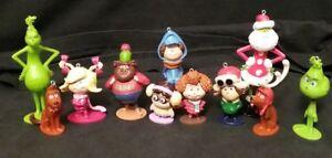 Dr Seuss The Grinch who Stole Christmas Ornament set 11 Ornaments Santa & Max
