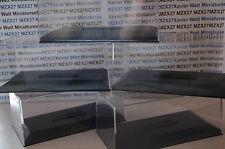 LOT 10 BOITES PLEXI + SOCLE POUR  VOITURE MINIATURE 1/43 EME NEUF