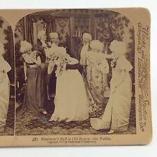 Underwood Blindmans Buff Stereograph Card Slide 3D 1900 Real Photograph RP J030
