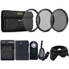 52mm UV CPL ND Kit with Replacement EN-EL14 Battery for Nikon DSLR Camera