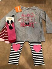 Nwt Gymboree Girl pink Valentine 4-piece Set Dog Heart Socks Winter 18 24