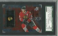2009-10 UD SPX signed hockey card #10 Jonathan Toews Chicago Blackhawks SGC