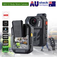 BOBLOV HD 1296P 64GB Body Worn Camera Recorder Ambarella A7LA50  Night Vision