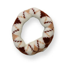 Mia Thick Argyle Ponytailer, Hair Tie, Hair Accessory, Italian Wool Winter White