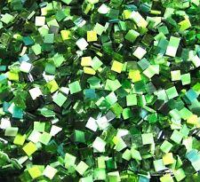 100 Mixed Green Mosaic Tiles 1cm x 1cm Art Craft Scrapbook