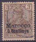 Dp-Marokko 7 O 3 C On 3 Pf Reichspost, Postmarked