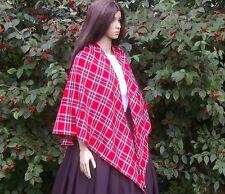 Large ladies Victorian, Edwardian, American Civil War Royal Stewart tartan shawl