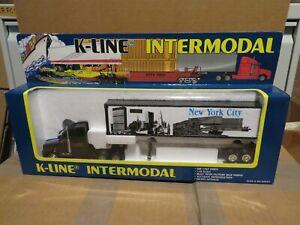 K-Line Intermodel NYC New York City Tractor Trailer Truck 1:48 Scale MIB