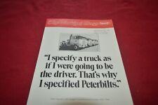 Peterbilt Working Class Magazine Truck Dealer's Brochure MFPA2 ver2