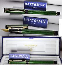 Waterman Centurion Fine Fountain Pen Green Marble vintage