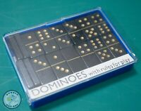 VINTAGE QUALITY WOOD DOMINOES MINIATURE TRAVEL SET