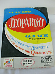 Vintage Jeopardy Game Milton Bradley 1964 Incomplete For Parts or Replacement